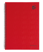 5 Star Office Wirebound Hardback Notebook A4